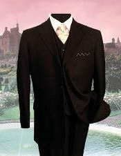 Black On Black Tone on Tone Stripe Shadow  PINSTRIPE Three Piece Suit 2 or 3 buttons