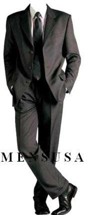 Solid Black Formal Suit +Shirt & Tie As Seen In Picture