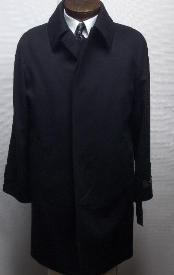 three button single breasted Mens Overcoat with a vent Mens