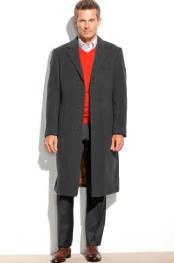 Mens Dress Coat 65% Wool full