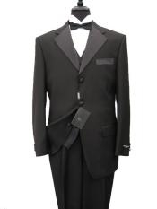 quality italian fabric Vested Mens Tuxedo Super 150s Wool Jacket +