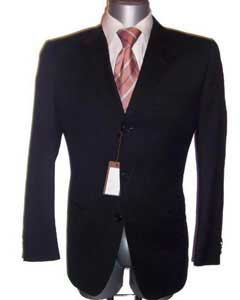 Fine Mens Dress Formal Jet Black Super Wool Cheap Priced Business Suits