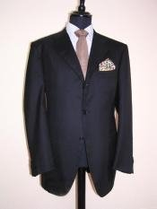 Darkest Dark Navy Blue Suit For Men 3 Buttons Super 120s Wool