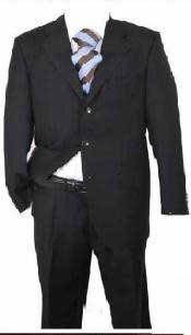 Black Solid Wool Cheap Priced Business Suits Clearance Sale Available in