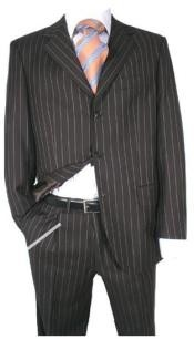 Super 120s Super fine rayon fabric Chalk Bold Pinstripe 1920s 30s Fashion Look Available in 2 or
