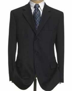 Three-Button-Black-Wool-Suit