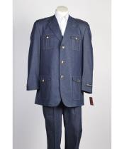 Button Denim Fashion Suit