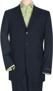 Button Style Notch Lapel Dark Blue premier quality italian fabric 3
