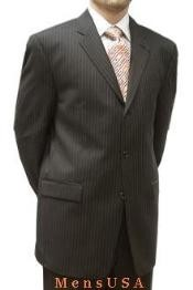 or 3 buttons Brown Stripe ~ Pinstripe %100 Percent Soft New