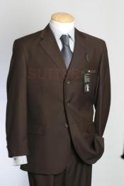 Brown Real Super 150s Wool premier quality italian fabric Design Three Buttons Style suit