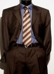 Brown Italian Super 150s Wool premier quality italian fabric Design Mens Suits