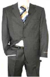 Dark Charcoal Gray Mens Single Breasted Discount Dress Available in 2