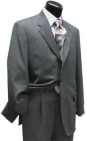Gray Super 120 Wool 3 Buttons Mens Cheap Priced Business Suits