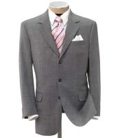 150 Wool Light Gray Mens premier quality three buttons style italian