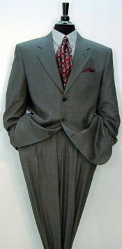 Luxurious Charcoal Grey Notch Lapel Side Vented Premier quality italian fabric