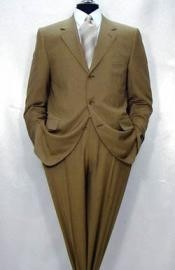 Mens Luxurious High End Side Vented Super 150s Wool Camel ~ Khaki