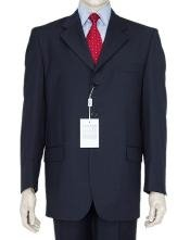 Classic Dark Navy Blue Suit For Men 3 Button Business Cheap Priced