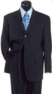 Navy Blue Suit For Men Double Vent Super 140s Wool premier quality