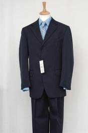Mens Navy Blue Single Breasted Discount Dress 2/3/4 Button Cheap Business ~ Wedding 2 piece Side Vented