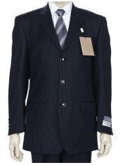 GKLL2 DarkNavy Blue Small Pinstripe premier quality italian fabric Super 140