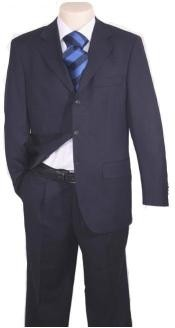 Navy Blue Suit For Men Super 120s Wool Available in 2