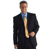 Mens Darkest Dark Navy Blue Suit For Men Business Super 100s