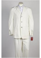 Button Offf White Suit