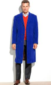 Blue Mens Dress Coat