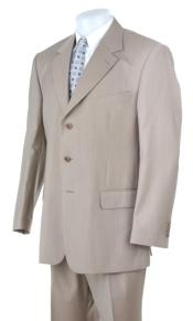 Tan ~ Beige Light Weight Cheap Priced Business Suits Clearance Sale