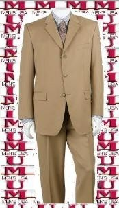 ~ Camel/Gold Close to Tan ~ Beige Shade Mens Cheap Priced Business Suits Clearance Sale Luxurious Business