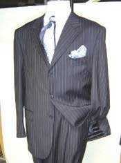 Mens Dress Pinstripe Available in 2 or Three ~ 3 Buttons Style Regular Classic Cut Mens Business