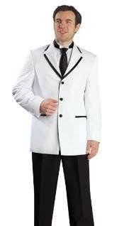 Lapel Two Toned Mens High Fashion 3 Button Tuxedo