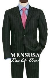 Vent Black Smoth Pinstripe 3 Buttons Mens Dress Business premier quality italian fabric Cheap Priced Business Suits