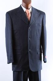 Mens 3 Button Super 150s Blue three piece Cheap Priced Business Suits