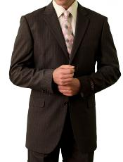 3 Button Front Closure Brown Suit