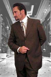 Brown Super 120s Wool Suit Available in 2 or Three ~ 3 Buttons Style Regular Classic Cut