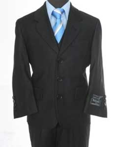 3 piece 3 Button Suit Black