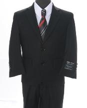 2 piece 2 Button Suit Black
