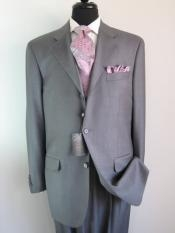 Gray Three ~ 3 Buttons Super 150s Wool Three ~ 3