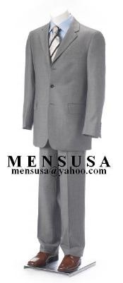 Vent Clowdy Light Gray Super 140s Wool 3 Buttons Mens Cheap