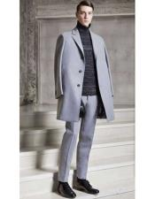 Dress Coat Light Grey  ~ Silver Gray 3 Buttons