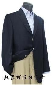 Notch Lapel Navy Blue