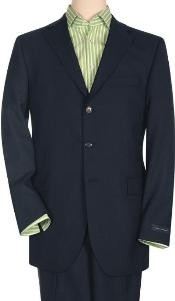 Solid Navy Blue Quality Suit Separates Total Comfort Any Size Jacket&Any