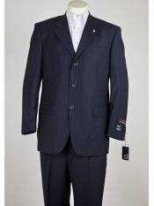 3 Button Pinstripe Single
