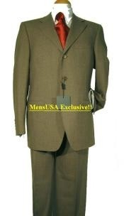 Wool&Tayloring Classice Olive Green Mens Suits 3 Buttons