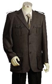 Stylish 3 Button Rust Zoot Suit