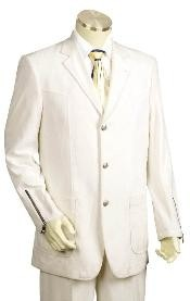 Iced Silver Mens Suit