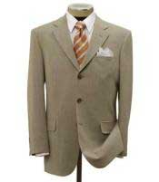 Tan ~ Beige Mens Dress Ultra Smooth Stretch Fabric is Wrinkle