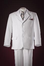 3 Button Fashion White Kids-Toddler-Boy Suits Perfect for toddler Suit wedding