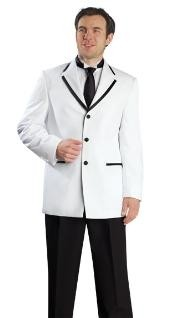 3 Button White Suit